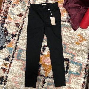 Madewell NWT black curvy high-rise skinny jeans